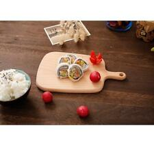 Kitchen Wood Cutting Board w/ Handle Cheese Tray Food Serving Board Platter