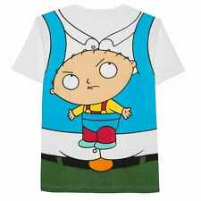 Family Guy Mens White Peter Griffin w/ Stewie Graphic Costume T-Shirt