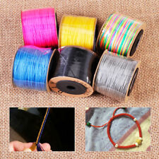 0.8mm 100M Nylon Cord Beading String Thread Rattail Macrame Chinese Knot Braided