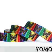 """7/8""""22mm Butterfly Printed grosgrain ribbon 10/50/100 yards hairbow Wholesale"""