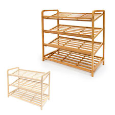 Bamboo Shoe Shelf Different Heights Available (L: 70.5 cm W: 33 cm) Storage Rack