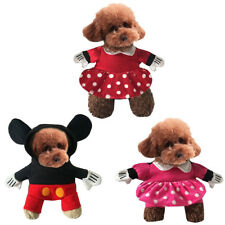 Pet Dog Cat Clothes Puppy Cartoon Mickey Minnie Costume Hooded Halloween Cosplay