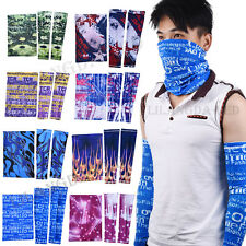 Unisex Cycling Bicycle Arm Warmers Bike Face Mask UV Protective Arm Sleeve Sets