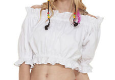Flirty Wench Blouse, Shirt, Top, White, Pirate, Ruffles, On or Off Shoulder.