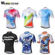 WEIMOSTAR Team Mens Cycling Jersey Summer MTB Bike Wear Clothes Bicycle Clothing