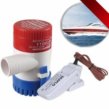 Great 12V Submersible 1100 GPH Marine Boat Bilge Pump With White Float Switch