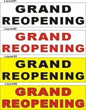 3ftX10ft Custom Printed GRAND REOPENING (Re-Opening) Banner Sign