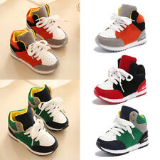 Kids Boys Girls Running Sports Gym Sneakers Lace Up Slip On Athletic Shoes Size