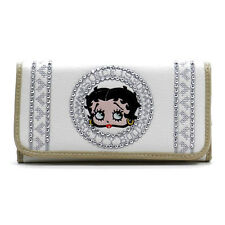 Betty Boop bead embroidered Rhinestone L woman checkbook wallet