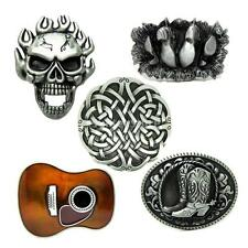 Novelty Western Country Guitar Jungle Boots Skull Belt Buckle Cowboy Halloween