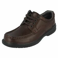 Mens Clarks Brown Leather lace up KEELER WALK H fitting