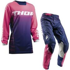 Thor Pulse Motocross Ladies Jersey and Trousers 2018 - BLUE PINK ENDURO MX