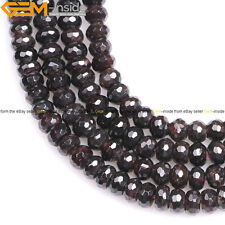 Natural Gemstone Red Garnet Rondelle Spacer Beads Jewelry Making 15''  Wholesale