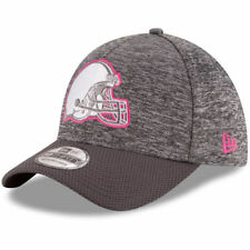 CLEVELAND BROWNS NFL BREAST CANCER BCA NEW ERA 39THIRTY GRAY/PINK FLEX HAT NWT