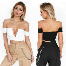 Women Sexy Midriff-baring Backless V-neck Thread Cloth Vest Blouse