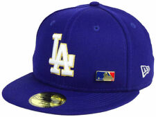 LOS ANGELES DODGERS MLB METAL MAN NEW ERA 59FIFTY FITTED DODGER BLUE HAT/CAP NWT
