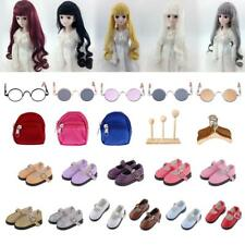 Modern Dolls Clothing Shoes Wig Hangers Stand for 1/6 1/3 BJD AOD Dollife LUTS
