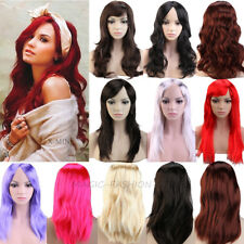 "19"" Natural Wavy Full Wig Cosplay Long Wigs for Party Halloween Women Ladies op0"