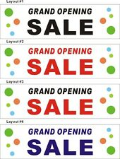 3ftX10ft Custom Printed GRAND OPENING SALE Banner Sign