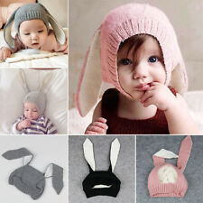Winter Baby Toddler Kids Cute Knitted Rabbit Crochet Ear Beanie Warm Hat Cap Hot