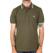 Fred Perry Twin Tipped Polo Shirt - Iris Leaf