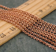 5ft Solid Brass Chain Knurled Link Cable Chains 1.8mm Links-Soldered Chains c70