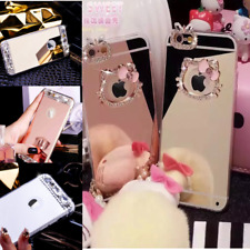 Fashion Luxury Hello Kitty Bling Glitter/Diamond Crystal Soft Mirror Case iPhone