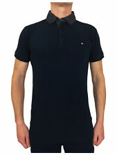 Weekend Offender Mens Pearce Smart Shirt Collar Polo in Navy