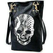Faux Leather  Women's Skull Handbag Tote Punk Rivets Shoulder Bag