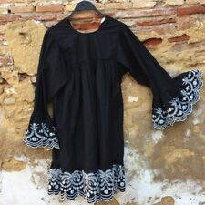 ZARA 📷 RARE LOOSE-FIT DRESS WITH CONTRASTING EMBROIDERY 📷 SIZE S 📷 7200/024