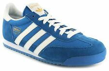 New Mens/Gents Blue/Multi Leather Adidas Retro Running Trainers UK SIZES