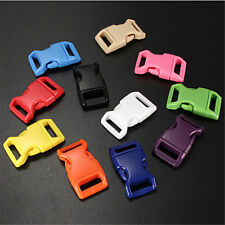 "10/50/100pcs 3/8"" Colorful Contoured Side Release Buckles For Paracord Bracelets"