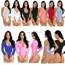 Sexy Women Lingerie High Cut Leotard Jumpsuit Crotchless Swimwear Thong Bodysuit