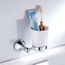 Bathroom Toilet Wall Round Single Tumbler Cup Holder with Cups Set 2 Colors