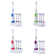 NEW Electric Toothbrush Soft Bristles + 3 Replacement Brush Head Oral Hygiene