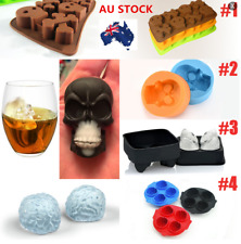 AU Whiskey Ice Cube Ball 3D Skull Brick Halloween Party Tray Mould Bar Silicone