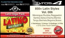 850+ NEW YAMAHA STYLES LATIN GIGA PACK + OTS SFF2  - FOR TYROS 4 - PSR-S970 S950