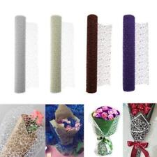1 Roll Crepe Papers Mesh Materials Jacquard Flower Material DIY Wrapping Packing