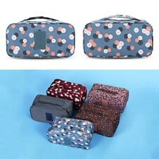 Guapabien Floral Cosmetic Underwear Portable Bag Storage Pouch For Traveling