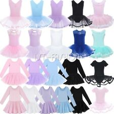 Girls Ballet Leotard Dance Wear Kids Gymnastics Tutu Skirt Ballerina Fancy Dress