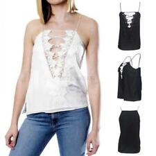 Sexy Women Lace Camisole Silk Tank Vest Casual Beach Party Clubwear Top Outwear