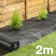 2M 100gsm Weed Control Fabric Ground Cover Membrane Landscape Outdoor Garden