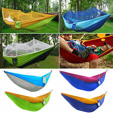 Nylon Fabric Travel Camping Double Outdoor Hammock Swing Bed Portable Parachute