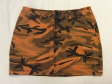 Lucky Brand Misses Size 6 Orange Camouflage Mini Skirt~Dungarees America