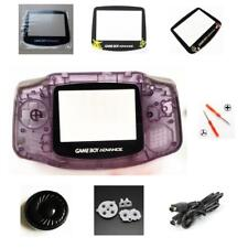 NEW GBA Nintendo Game Boy Advance Replacement Housing Shell Screen Lens Purple!