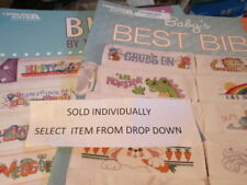 Baby Bib Cross Stitch Booklet Your Choice-Various Designers