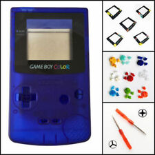 Nintendo Game Boy Color GBC Replacement Housing Shell Screen Clear Blue BUTTONS!