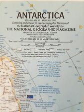 National Geographic Magazine Issue February 1963 Atlas Plate 65 Antarctica Map