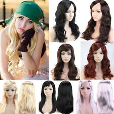 Cheap Cosplay Full Wig Wavy Straight Hair Wigs Bright Color Halloween Dress q89v