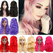 DISCOUNT Cosplay Wigs Long Wavy Straight Halloween Party Costume Fancy Dress tmq